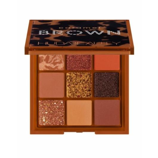 Huda Beauty - Szemhéjpúder paletta - Caramel Brown Obsessions